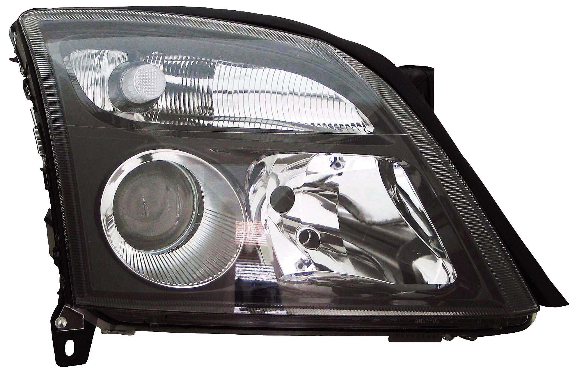 Vectra 2002-2005 Headlamp black Left Hand Passenger side